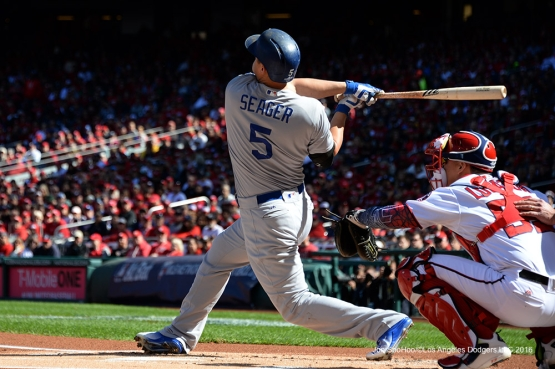 2016 NLDS Game Two---Corey Seager homers--Los Angeles Dodgers vs Washington Nationals  Sunday, October 9, 2016 at Nationals Park in Washington,DC.  Photo by Jon SooHoo/©Los Angeles Dodgers,LLC 2016