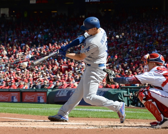 2016 NLDS Game Two---Joc Pederson singles--Los Angeles Dodgers vs Washington Nationals  Sunday, October 9, 2016 at Nationals Park in Washington,DC.  Photo by Jon SooHoo/©Los Angeles Dodgers,LLC 2016