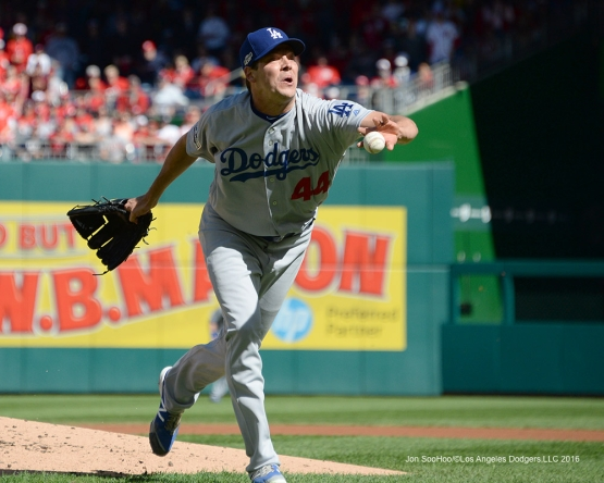 2016 NLDS Game Two---Rich Hill goes home--Los Angeles Dodgers vs Washington Nationals  Sunday, October 9, 2016 at Nationals Park in Washington,DC.  Photo by Jon SooHoo/©Los Angeles Dodgers,LLC 2016