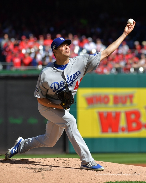 2016 NLDS Game Two---Rich Hill--Los Angeles Dodgers vs Washington Nationals  Sunday, October 9, 2016 at Nationals Park in Washington,DC.  Photo by Jon SooHoo/©Los Angeles Dodgers,LLC 2016
