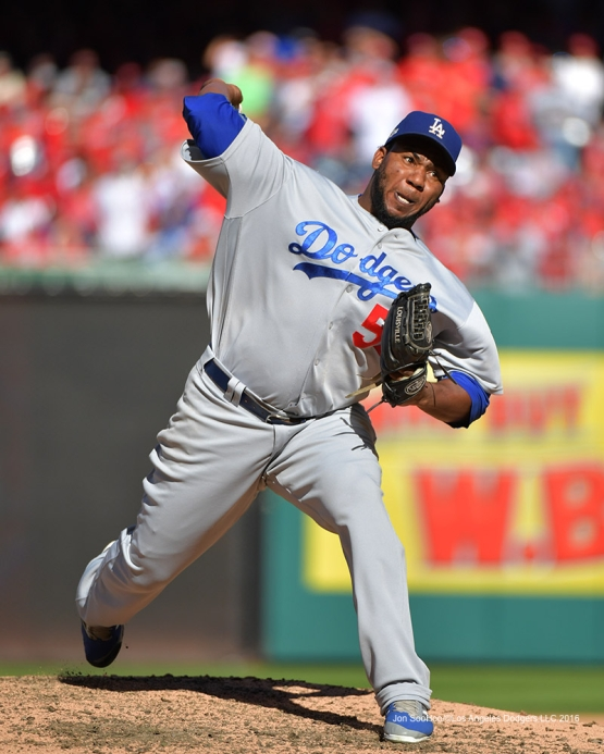 2016 NLDS Game Two---Pedro Baez--Los Angeles Dodgers vs Washington Nationals  Sunday, October 9, 2016 at Nationals Park in Washington,DC.  Photo by Jon SooHoo/©Los Angeles Dodgers,LLC 2016