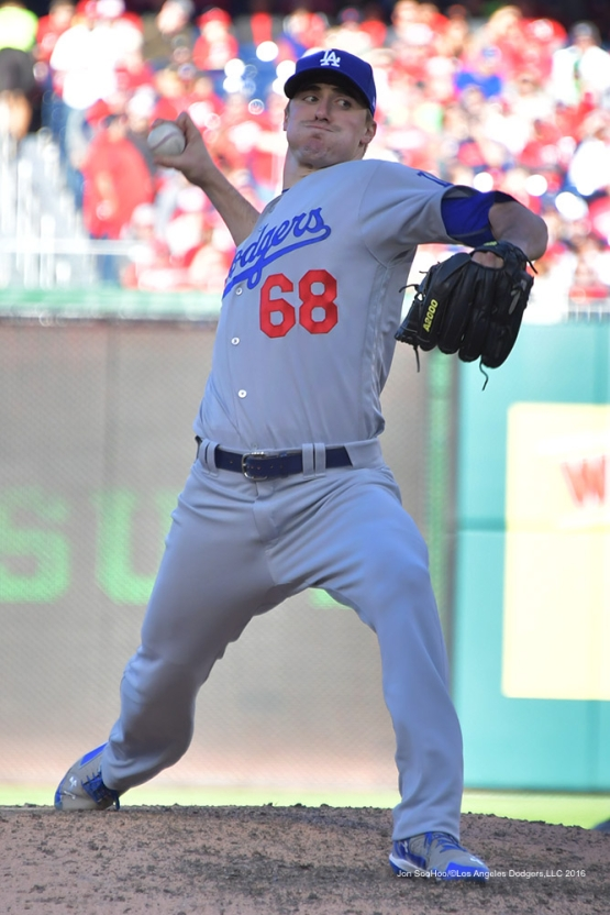2016 NLDS Game Two---Ross Stripling--Los Angeles Dodgers vs Washington Nationals  Sunday, October 9, 2016 at Nationals Park in Washington,DC.  Photo by Jon SooHoo/©Los Angeles Dodgers,LLC 2016