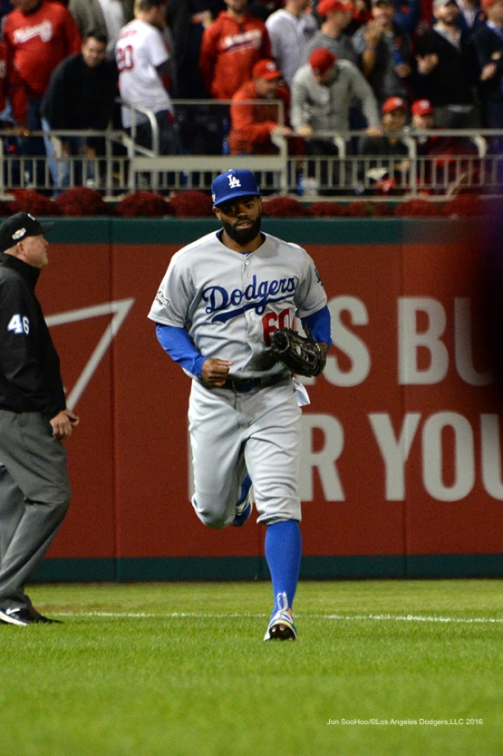 NLDS-Game 5-Andrew Toles--Los Angeles Dodgers vs Washington Nationals-Dodgers defeat the Nationals 4-3. Wednesday, October 13, 2016. Photo by Jon SooHoo/©Los Angeles Dodgers,LLC 2016