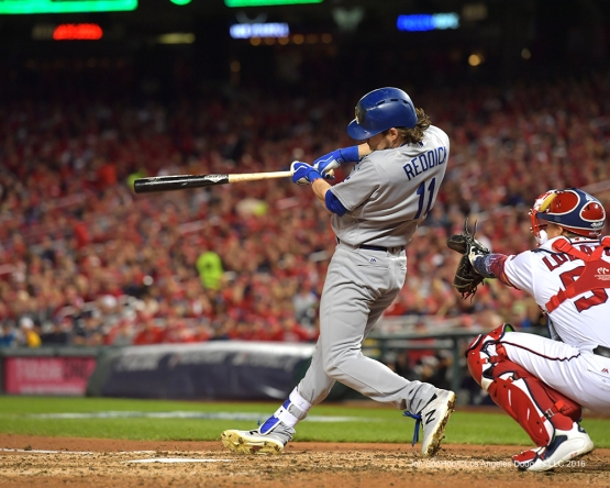 NLDS-Game 5-Josh Reddick-Los Angeles Dodgers vs Washington Nationals-Dodgers defeat the Nationals 4-3. Wednesday, October 13, 2016. Photo by Jon SooHoo/©Los Angeles Dodgers,LLC 2016
