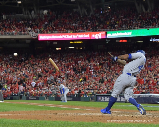 NLDS-Game 5-Howie Kendrick-Los Angeles Dodgers vs Washington Nationals-Dodgers defeat the Nationals 4-3. Wednesday, October 13, 2016. Photo by Jon SooHoo/©Los Angeles Dodgers,LLC 2016
