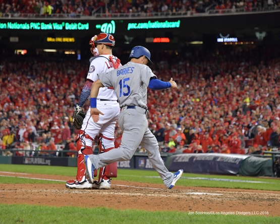 NLDS-Game 5-Austin Barnes--Los Angeles Dodgers vs Washington Nationals-Dodgers defeat the Nationals 4-3. Wednesday, October 13, 2016. Photo by Jon SooHoo/©Los Angeles Dodgers,LLC 2016