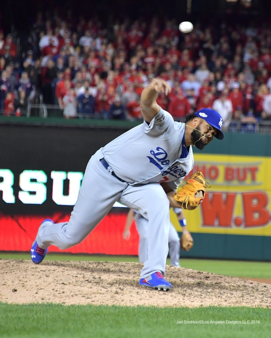 NLDS-Game 5-Kenley Jansen--Los Angeles Dodgers vs Washington Nationals-Dodgers defeat the Nationals 4-3. Wednesday, October 13, 2016. Photo by Jon SooHoo/©Los Angeles Dodgers,LLC 2016
