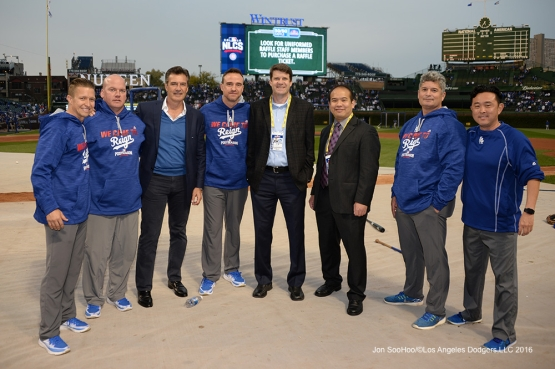 NLCS Game One-Medical Staff--Los Angeles Dodgers vs Chicago Cubs  Saturday, October 15, 2016 at Wrigley Field in Chicago,Illinois. Photo by Jon SooHoo/©Los Angeles Dodgers,LLC 2016