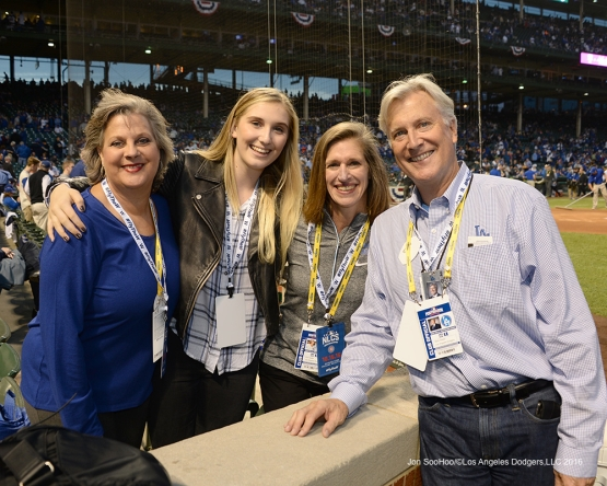 NLCS Game One-The Walter family-Los Angeles Dodgers vs Chicago Cubs  Saturday, October 15, 2016 at Wrigley Field in Chicago,Illinois. Photo by Jon SooHoo/©Los Angeles Dodgers,LLC 2016