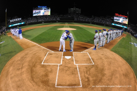 NLCS Game One-Los Angeles Dodgers vs Chicago Cubs  Saturday, October 15, 2016 at Wrigley Field in Chicago,Illinois. Photo by Jon SooHoo/©Los Angeles Dodgers,LLC 2016