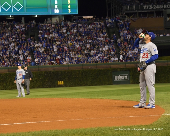 NLCS Game One-Adrian Gonzalez--Los Angeles Dodgers vs Chicago Cubs  Saturday, October 15, 2016 at Wrigley Field in Chicago,Illinois. Photo by Jon SooHoo/©Los Angeles Dodgers,LLC 2016