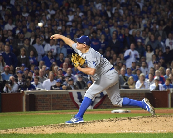 NLCS Game One-Joe Blanton-Los Angeles Dodgers vs Chicago Cubs  Saturday, October 15, 2016 at Wrigley Field in Chicago,Illinois. Photo by Jon SooHoo/©Los Angeles Dodgers,LLC 2016