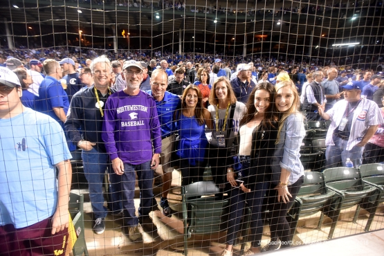 NLCS Game Two-The Walter family and friends-Los Angeles Dodgers vs Chicago Cubs  Sunday, October 16, 2016 at Wrigley Field in Chicago,Illinois. Photo by Jon SooHoo/©Los Angeles Dodgers,LLC 2016