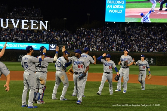 NLCS Game Two-Los Angeles Dodgers defeat the Chicago Cubs 1-0 Sunday, October 16, 2016 at Wrigley Field in Chicago,Illinois. Photo by Jon SooHoo/©Los Angeles Dodgers,LLC 2016