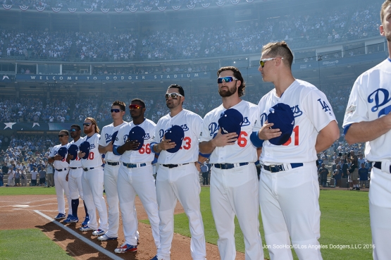 2016 NLDS Game 3---Los Angeles Dodgers vs Washington Nationals Monday, October 10, 2016 at Dodger Stadium in Los Angeles, California. Photo by Jon SooHoo/© Los Angeles Dodgers, LLC 2016