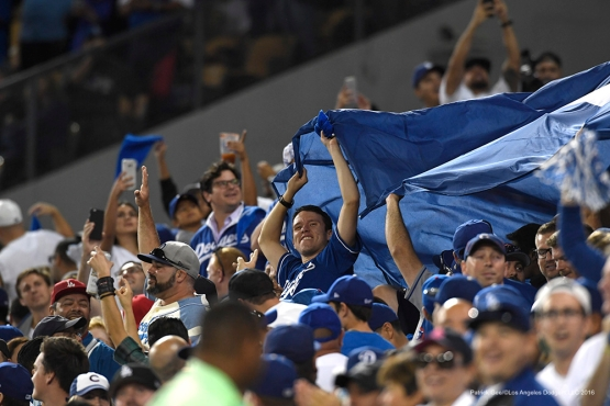 2016 NLCS Game 3---Los Angeles Dodgers vs Chicago Cubs Tuesday, October 18, 2016 at Dodger Stadium in Los Angeles, California. Photo by Patrick Gee/© Los Angeles Dodgers, LLC 2016