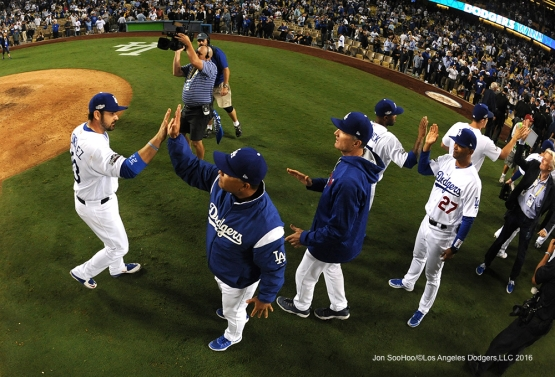2016 NLCS Game 3---Dodgers beat the Cubs 6-0-Los Angeles Dodgers vs Chicago Cubs Tuesday, October 18, 2016 at Dodger Stadium in Los Angeles, California. Photo by Jon SooHoo/© Los Angeles Dodgers, LLC 2016