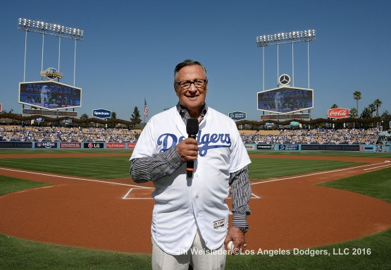 2016 NLDS Game 4---Jaime Jarrin--Los Angeles Dodgers vs Washington Nationals Tuesday, October 11, 2016 at Dodger Stadium in Los Angeles, California. Photo by Jill Weisleder/© Los Angeles Dodgers, LLC 2016