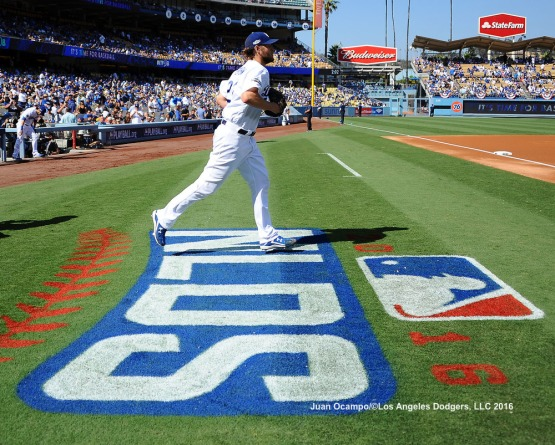 Clayton Kershaw takes the field for Game Four of the NLDS.