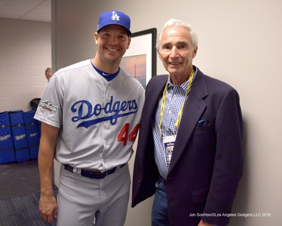 2016 NLDS Game One---Rich Hill and Sandy Koufax--Los Angeles Dodgers vs Washington Nationals  Friday, October 7, 2016 at Nationals Park in Washington,DC.  Photo by Jon SooHoo/©Los Angeles Dodgers,LLC 2016