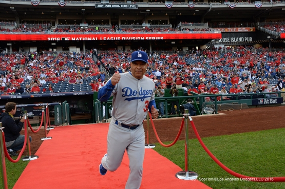 2016 NLDS Game One---Dave Roberts-Los Angeles Dodgers vs Washington Nationals  Friday, October 7, 2016 at Nationals Park in Washington,DC.  Photo by Jon SooHoo/©Los Angeles Dodgers,LLC 2016