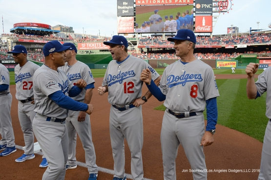 2016 NLDS Game One---Dave Roberts--Los Angeles Dodgers vs Washington Nationals  Friday, October 7, 2016 at Nationals Park in Washington,DC.  Photo by Jon SooHoo/©Los Angeles Dodgers,LLC 2016