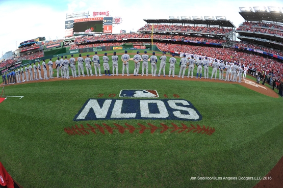 2016 NLDS Game One---Los Angeles Dodgers vs Washington Nationals  Friday, October 7, 2016 at Nationals Park in Washington,DC.  Photo by Jon SooHoo/©Los Angeles Dodgers,LLC 2016