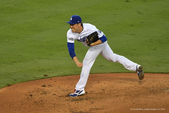 2016 NLCS Game 5---Kenta Maeda-Chicago Cubs vs Los Angeles Dodgers Thursday, October 20, 2016 at Dodger Stadium in Los Angeles, California. Photo by Jon SooHoo/© Los Angeles Dodgers, LLC 2016