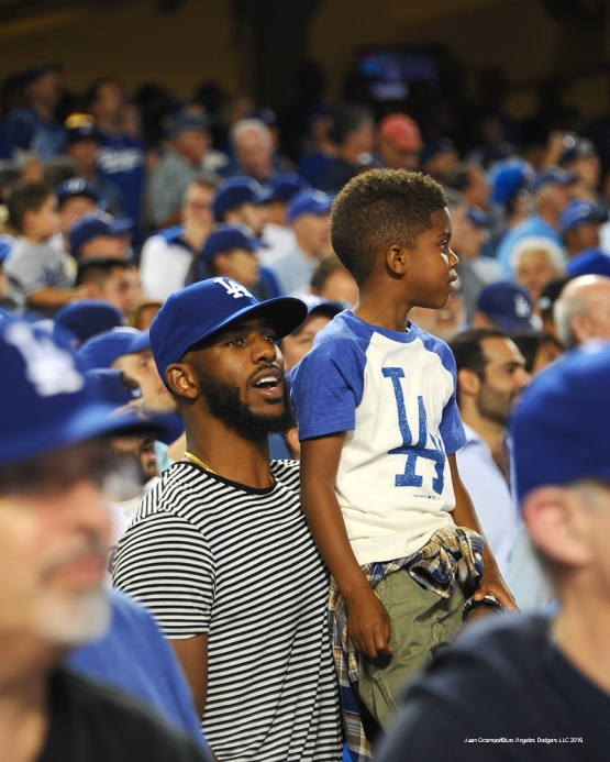 2016 NLCS Game 5---Chris Paul-Chicago Cubs vs Los Angeles Dodgers Thursday, October 20, 2016 at Dodger Stadium in Los Angeles, California. Photo by Juan Ocampo/© Los Angeles Dodgers, LLC 2016