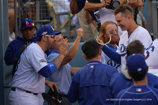 2016 NLDS Game 4---Los Angeles Dodgers vs Washington Nationals Tuesday, October 11, 2016 at Dodger Stadium in Los Angeles, California. Photo by Jon SooHoo/© Los Angeles Dodgers, LLC 2016