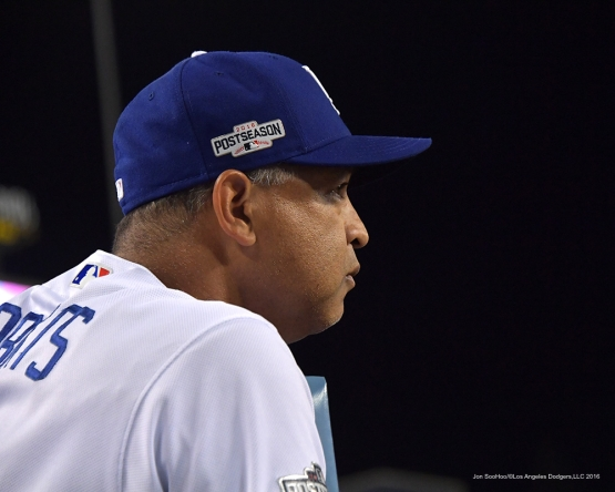 2016 NLCS Game 5---Dave Roberts-Chicago Cubs vs Los Angeles Dodgers Thursday, October 20, 2016 at Dodger Stadium in Los Angeles, California. Photo by Jon SooHoo/© Los Angeles Dodgers, LLC 2016
