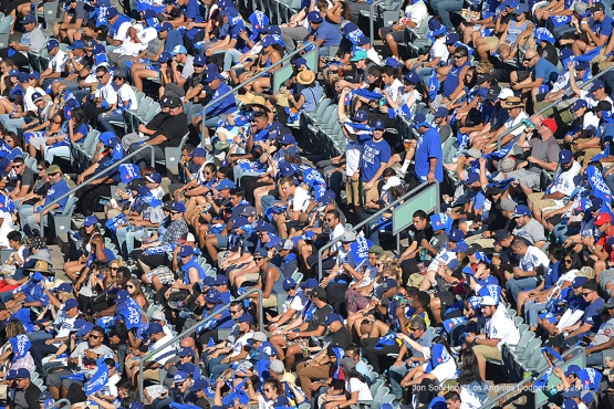 2016 NLDS Game 3---GREAT Dodger fans---Los Angeles Dodgers vs Washington Nationals Monday, October 10, 2016 at Dodger Stadium in Los Angeles, California. Photo by Jon SooHoo/© Los Angeles Dodgers, LLC 2016