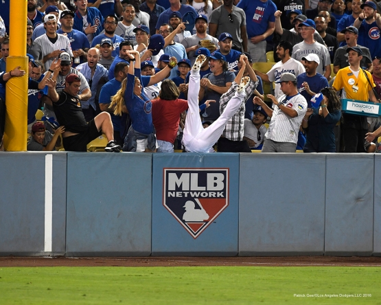 2016 NLCS Game 4---Josh Reddick-Los Angeles Dodgers vs Chicago Cubs Wednesday, October 19, 2016 at Dodger Stadium in Los Angeles, California. Photo by Patrick Gee/© Los Angeles Dodgers, LLC 2016