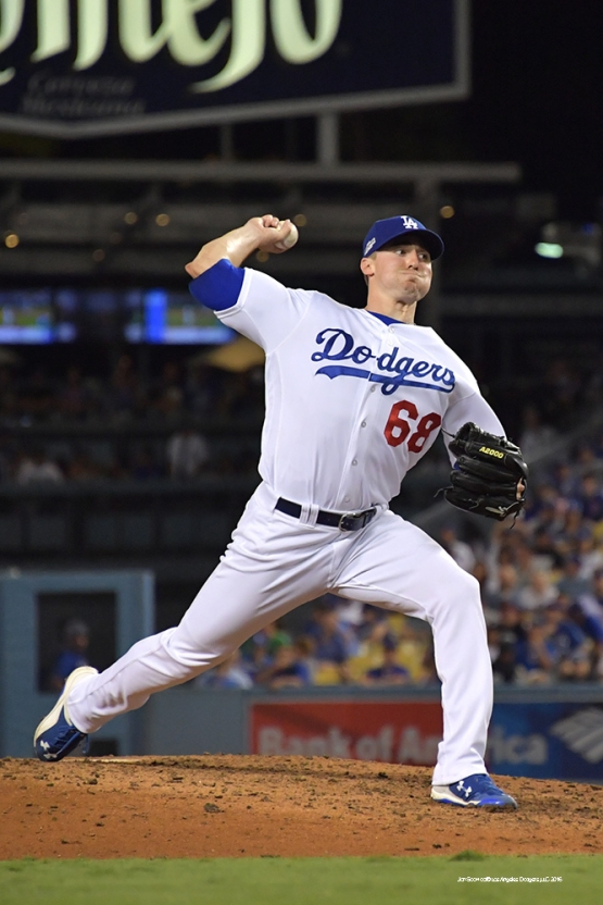 2016 NLCS Game 5---Ross Stripling-Chicago Cubs vs Los Angeles Dodgers Thursday, October 20, 2016 at Dodger Stadium in Los Angeles, California. Photo by Jon SooHoo/© Los Angeles Dodgers, LLC 2016