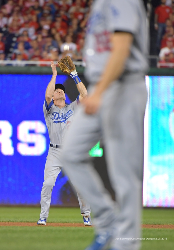 2016 NLDS Game One---Chase Utley--Los Angeles Dodgers vs Washington Nationals  Friday, October 7, 2016 at Nationals Park in Washington,DC.  Photo by Jon SooHoo/©Los Angeles Dodgers,LLC 2016