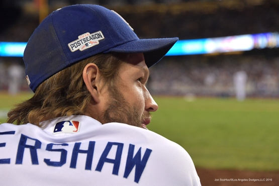 2016 NLCS Game 5---Clayton Kershaw-Chicago Cubs vs Los Angeles Dodgers Thursday, October 20, 2016 at Dodger Stadium in Los Angeles, California. Photo by Jon SooHoo/© Los Angeles Dodgers, LLC 2016