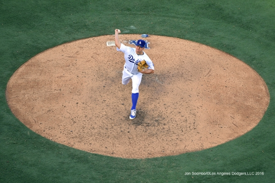 2016 NLDS Game 3---Joe Blanton--Los Angeles Dodgers vs Washington Nationals Monday, October 10, 2016 at Dodger Stadium in Los Angeles, California. Photo by Jon SooHoo/© Los Angeles Dodgers, LLC 2016
