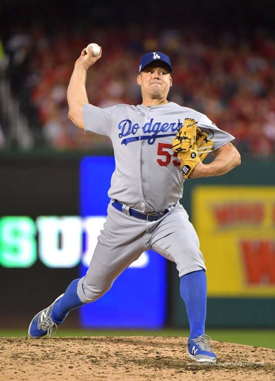 2016 NLDS Game One---Joe Blanton--Los Angeles Dodgers vs Washington Nationals  Friday, October 7, 2016 at Nationals Park in Washington,DC.  Photo by Jon SooHoo/©Los Angeles Dodgers,LLC 2016
