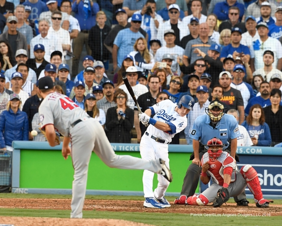 2016 NLDS Game 4---Chase Utley's go ahead single-Los Angeles Dodgers vs Washington Nationals Tuesday, October 11, 2016 at Dodger Stadium in Los Angeles, California. Photo by Patrick Gee/© Los Angeles Dodgers, LLC 2016