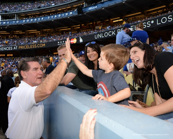 2016 NLCS Game 5---Steve Garvey-Chicago Cubs vs Los Angeles Dodgers Thursday, October 20, 2016 at Dodger Stadium in Los Angeles, California. Photo by Jill Weisleder/© Los Angeles Dodgers, LLC 2016