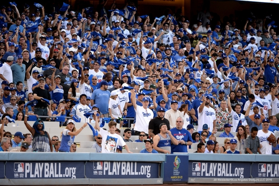 2016 NLCS Game 5---Chicago Cubs vs Los Angeles Dodgers Thursday, October 20, 2016 at Dodger Stadium in Los Angeles, California. Photo by Jill Weisleder/© Los Angeles Dodgers, LLC 2016