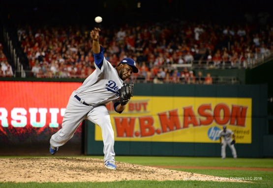 2016 NLDS Game One---Pedro Baez--Los Angeles Dodgers vs Washington Nationals  Friday, October 7, 2016 at Nationals Park in Washington,DC.  Photo by Jon SooHoo/©Los Angeles Dodgers,LLC 2016