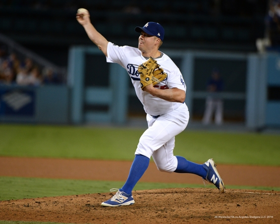 2016 NLCS Game 5---Joe Blanton-Chicago Cubs vs Los Angeles Dodgers Thursday, October 20, 2016 at Dodger Stadium in Los Angeles, California. Photo by Jill Weisleder/© Los Angeles Dodgers, LLC 2016