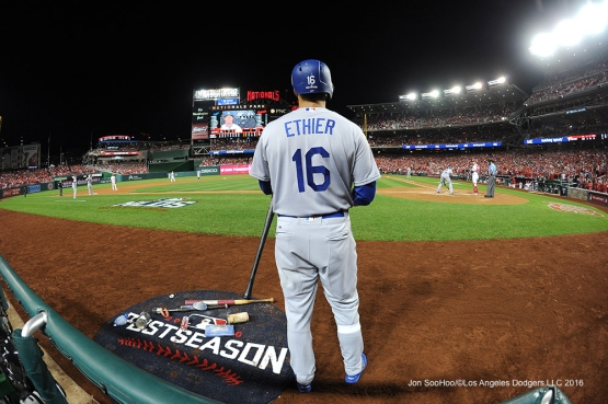 2016 NLDS Game One---Decoy Andre Ethier--Los Angeles Dodgers vs Washington Nationals  Friday, October 7, 2016 at Nationals Park in Washington,DC.  Photo by Jon SooHoo/©Los Angeles Dodgers,LLC 2016
