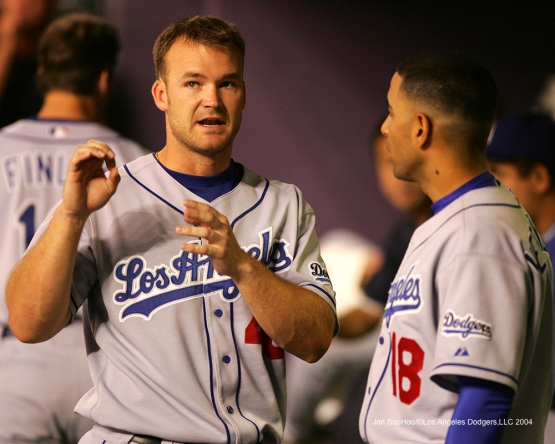 Los Angeles Dodgers vs Arizona Diamondbacks Tuesday, August 31, 2004 at Bank One Ballpark. The Dodgers beat the Diamondbacks 4-1 in 13 innings.