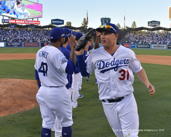 2016 NLDS Game 4---Los Angeles Dodgers win game four 6-5 against the Washington Nationals Tuesday, October 11, 2016 at Dodger Stadium in Los Angeles, California. Photo by Jon SooHoo/© Los Angeles Dodgers, LLC 2016